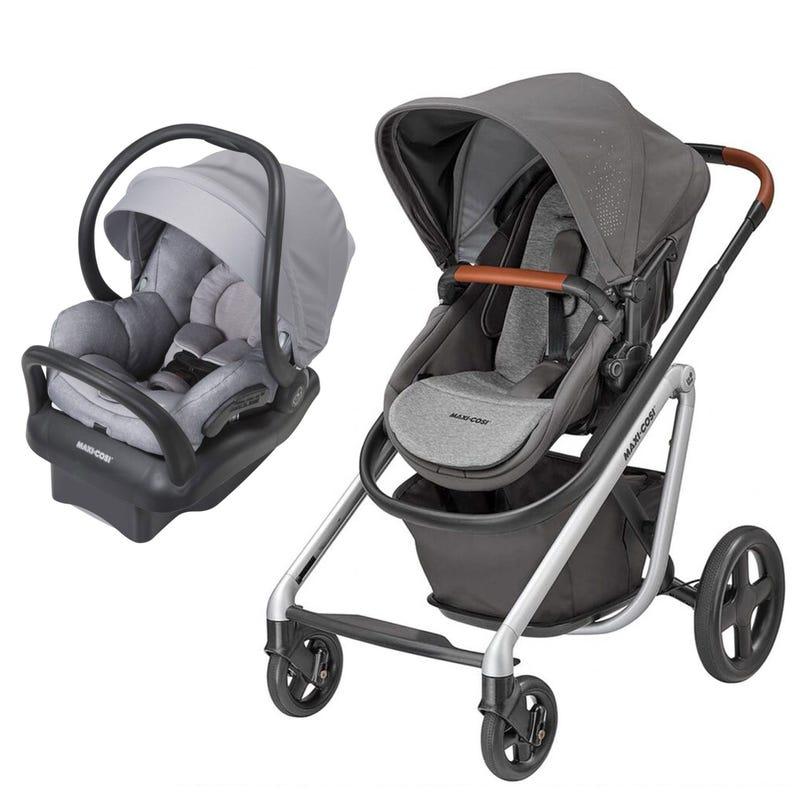Lila Stroller + Mico Max Car Seat - Grey