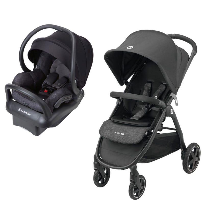 Gia Stroller + Mico Max Car Seat - Black