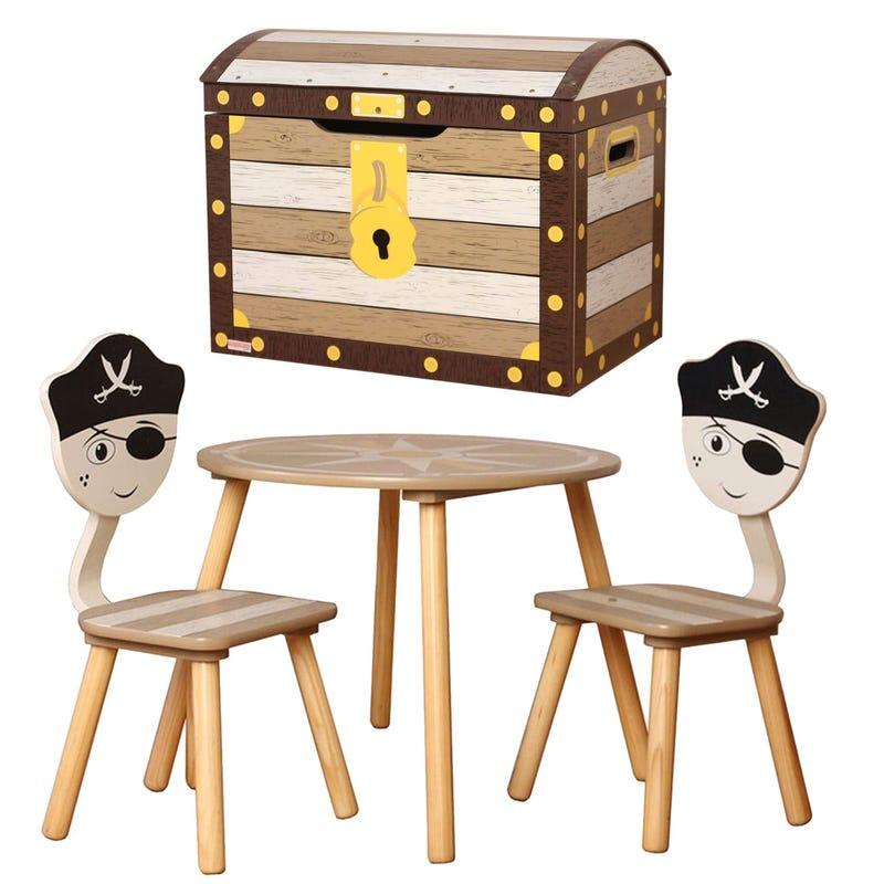 Table et 2 chaises + Coffre de rangement - Pirate