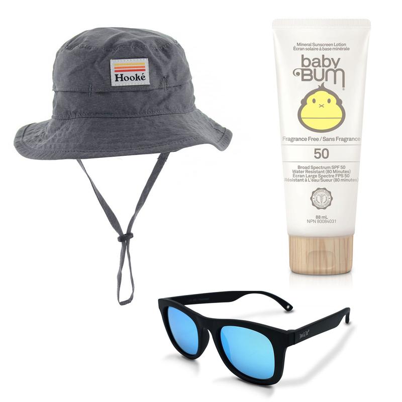 Chapeau UV + Lunette + Crème solaire