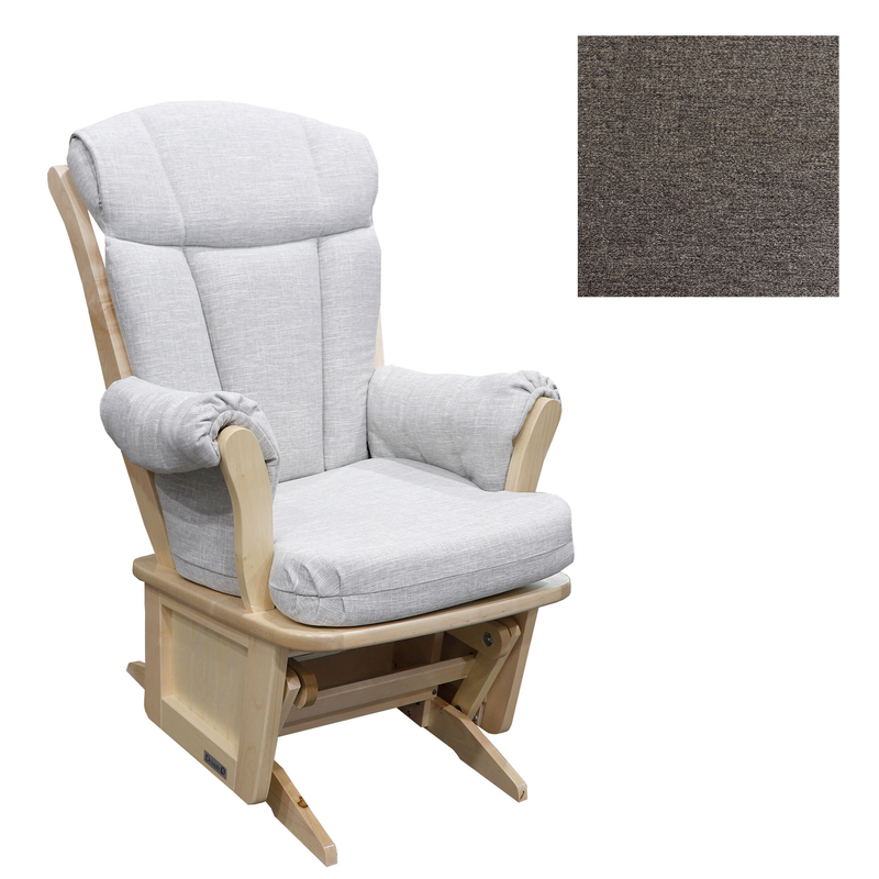 Rocking Chair Natural Wood  + Coussin tissu #3128