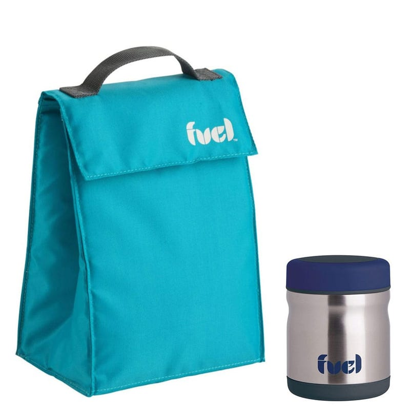 Sac à lunch + Contenant Thermique 450ml - Turquoise
