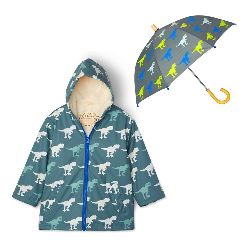 Bundle Sherpa T-Rex Raincoat 3-8y - Grey