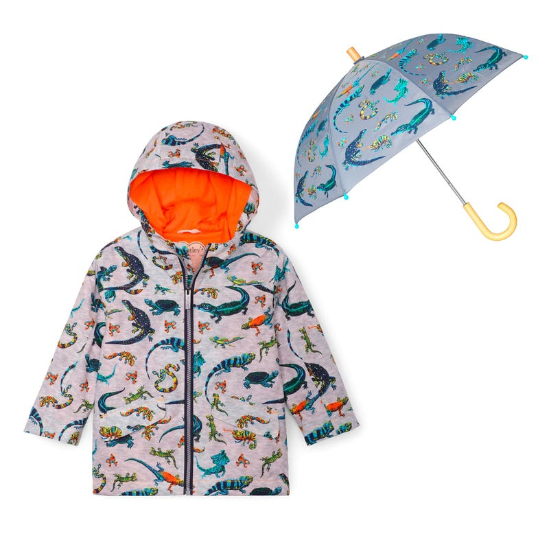 Bundle Reptiles Raincoat 2-8y - Grey