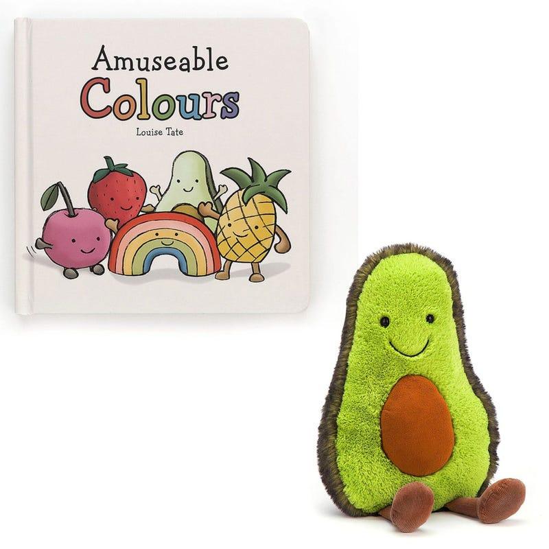 """Livre """"Les couleurs"""" + Avocat Souriant 12"""" - En anglais seulement"""