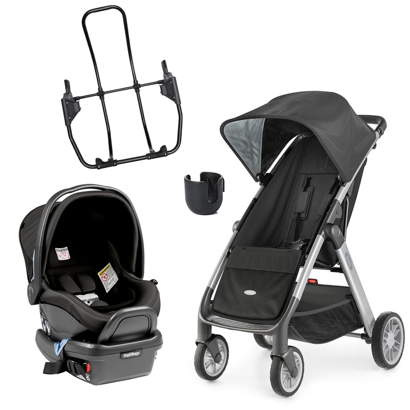 Travel System Cubby + Prima Vaggio + Adapter + Cup Holder - Black