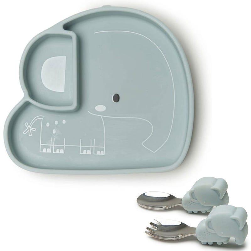 Bundle Silicon Tableware Set - Elephant