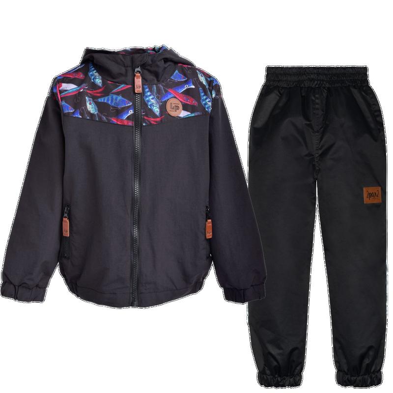 Manteau mi-saison + Pantalon extérieur 2-6ans - Poisson