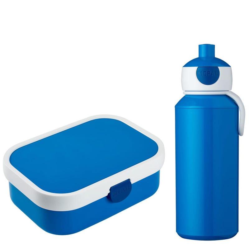 Pop-Up Bottle 400ml + Lunch Box Campus 750ml - blue