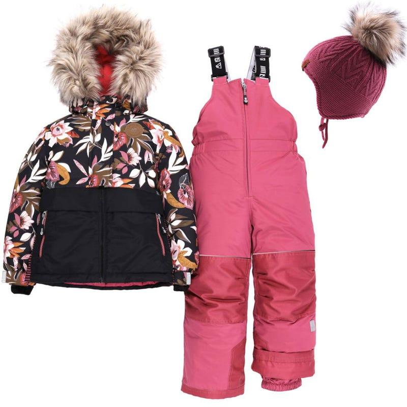 Habit de neige Mont Monarch + Tuque - Rose