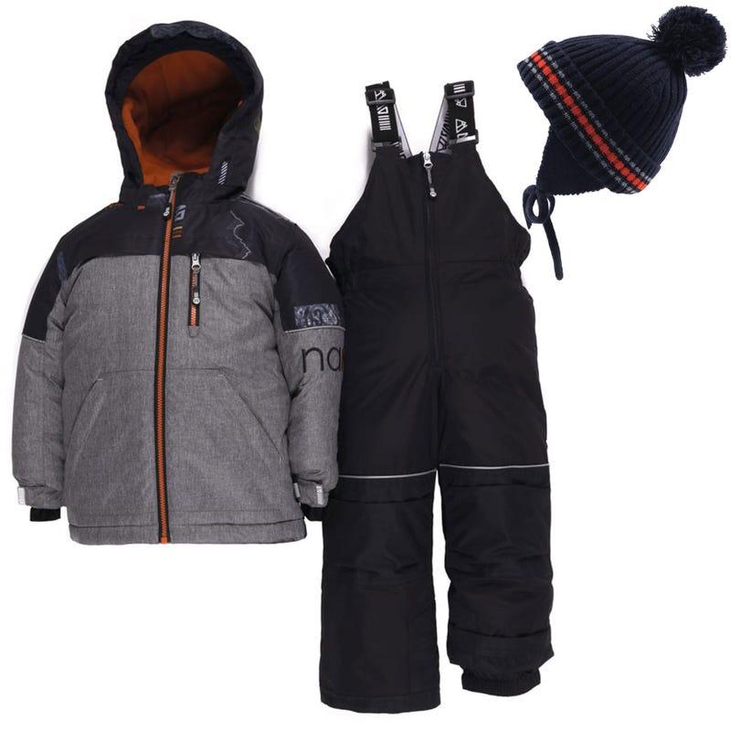 Habit de neige Mont Albert 2-6ans + Tuque - Gris