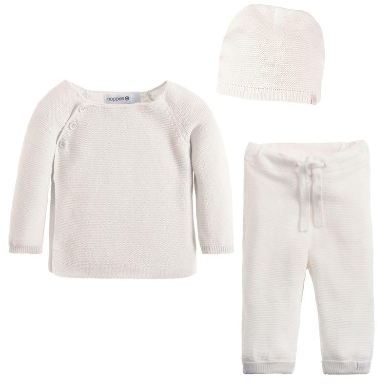 Ensemble en tricot Pino Prem-9m - Blanc