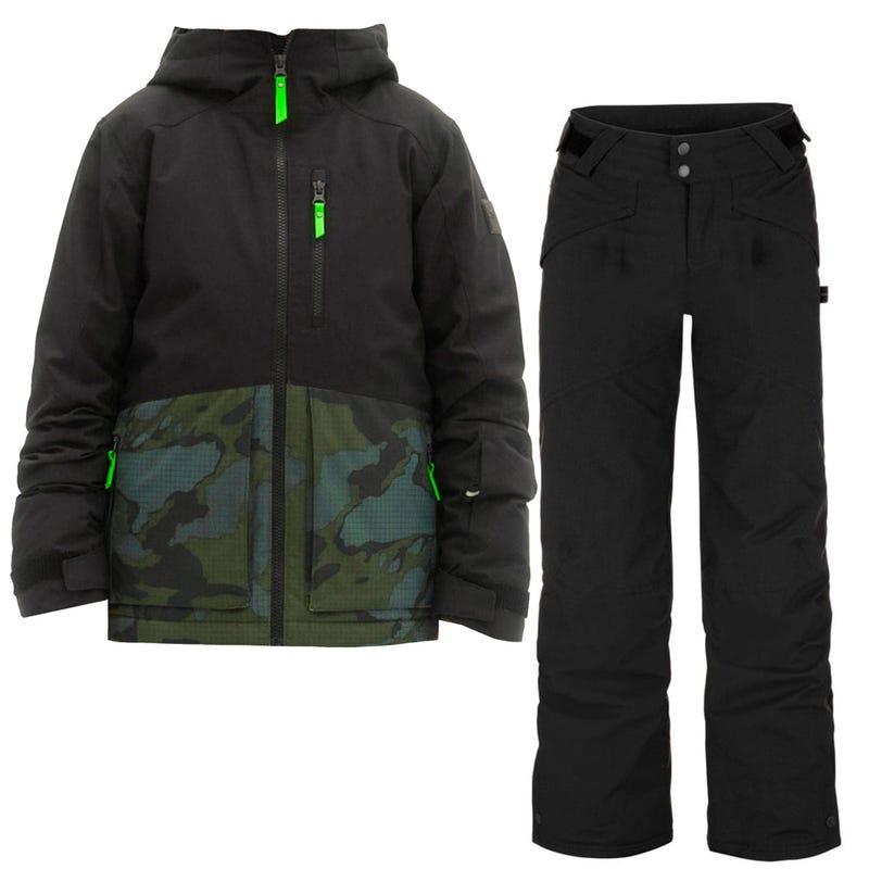 Snowsuit Textured 8-16y - Black