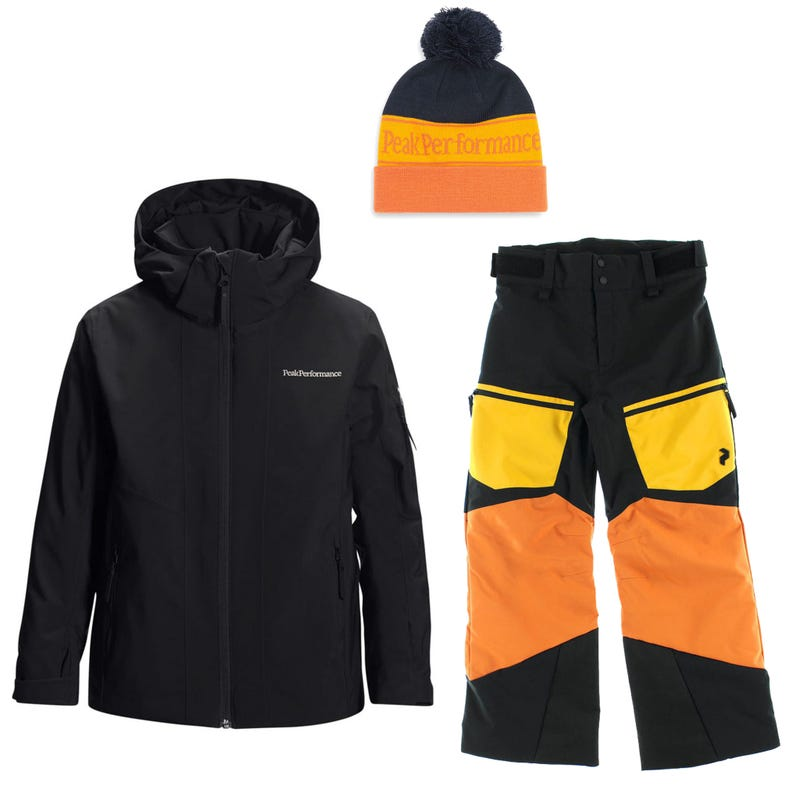 Habit de neige Jr Maroon 7-14 - Orange