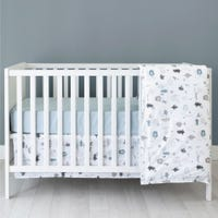 Bundle Duvet & cover + Bed Skirt +Crib Fitted Sheet- Forest
