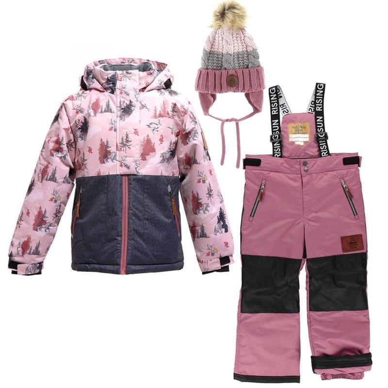 Mystic Winterland Snowsuit + Hat 4-14y - Pink