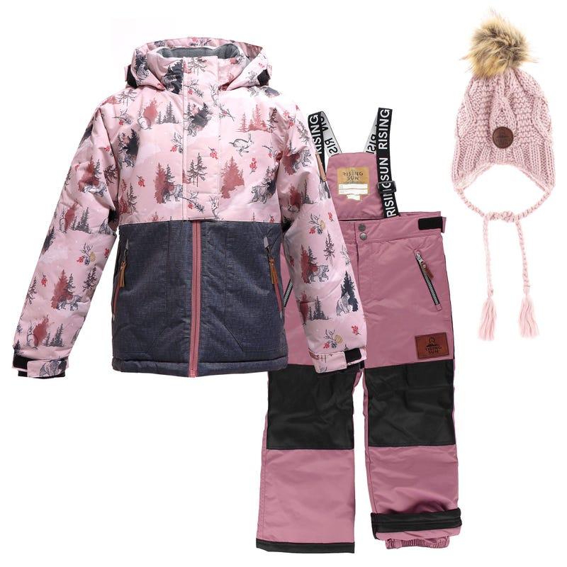 Mystic Winterland Snowsuit 4-14y + Hat - Pink