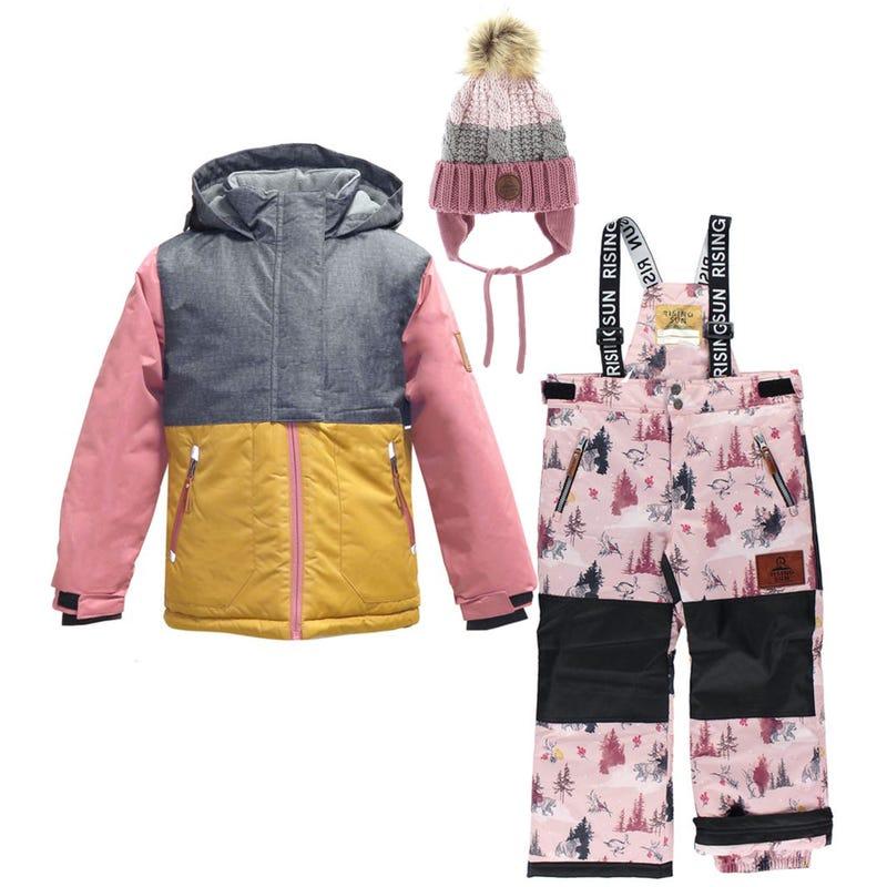 Mystic Winterland Snowsuit + Hat 4-14yCharcoal
