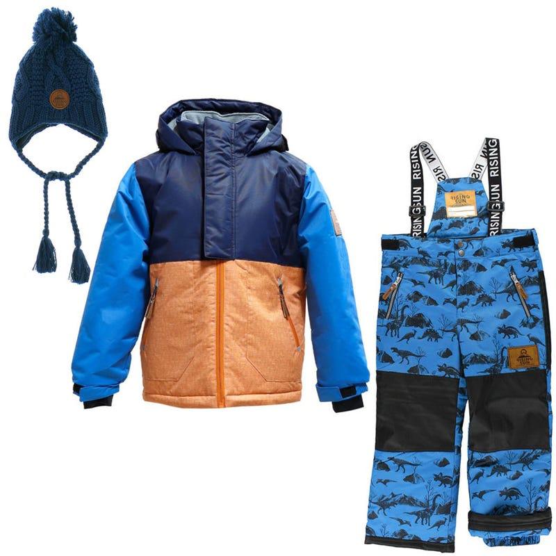 Habit de neige Dinoland + Tuque 4-14ans - Marine