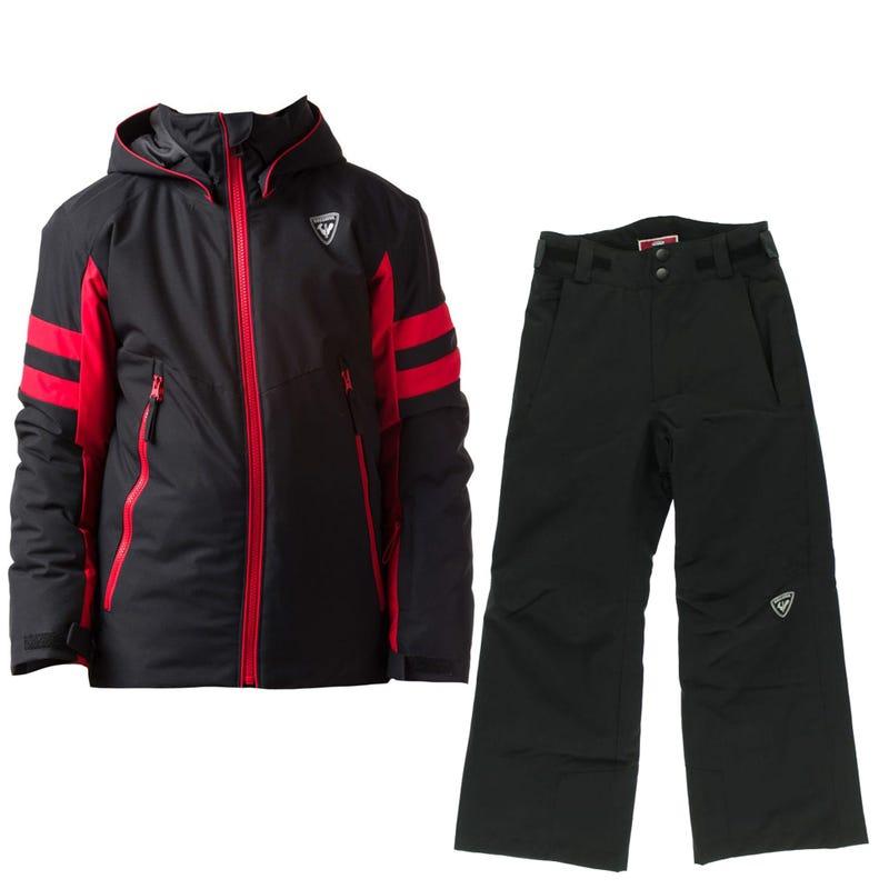 Snowsuit Ski 10-16y - Black / Red