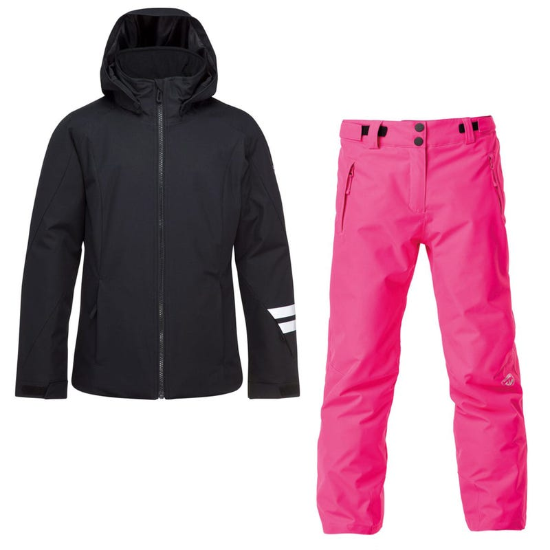Fonction Jacket + Pants 12-16y - Black / Pink