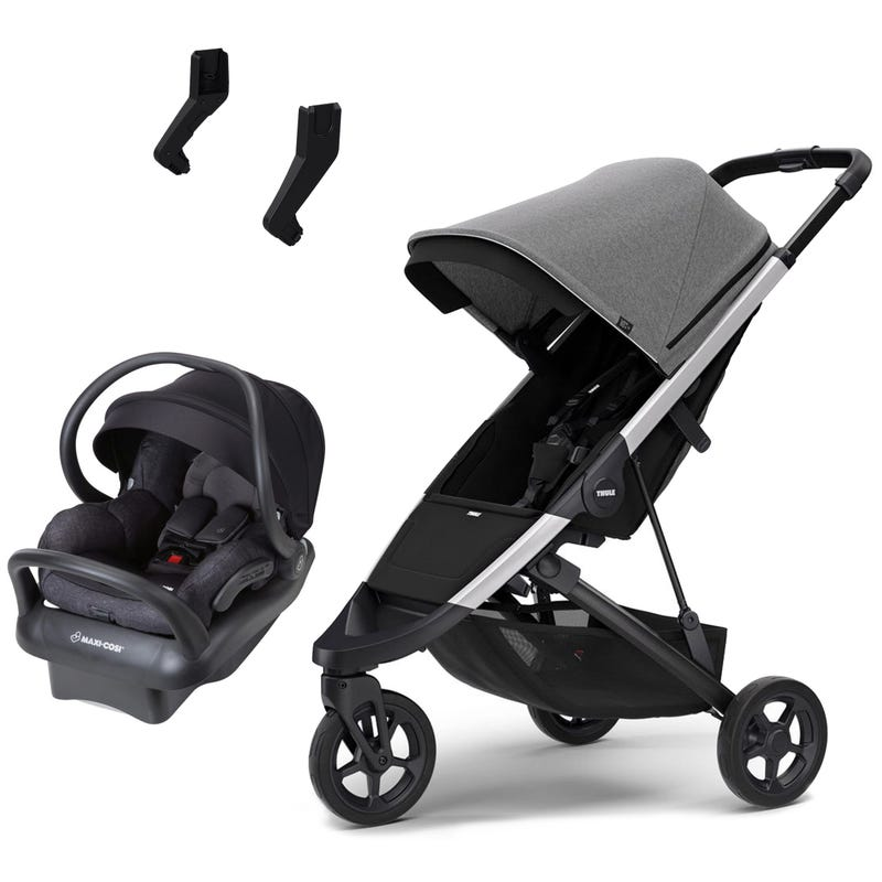 Thule Spring Stroller and Mico Max Car Seat Set