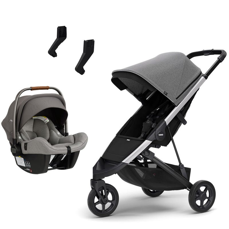 Bundle Exclusive Thule Spring Stroller and Nuna Pipa Lite Car Seat