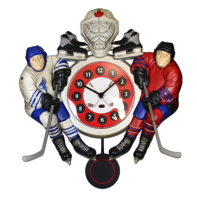 Decorative Clock - Hockey