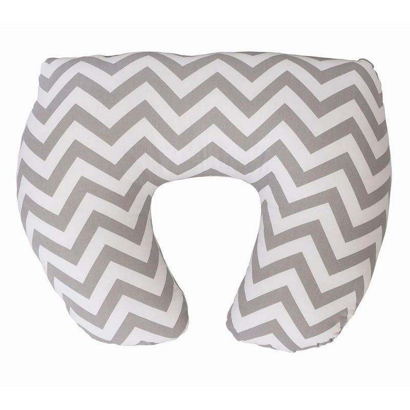 Baby Sitter Nursing Pillow Slipcover - Gray Chevron