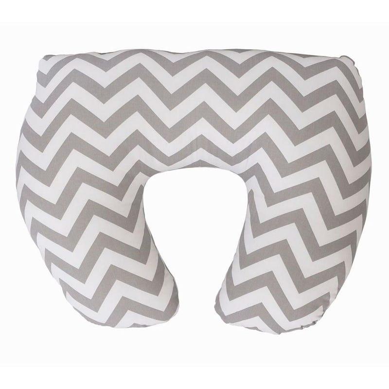 Baby Sitter Nursing Pillow Slipcover - Gray Chevron