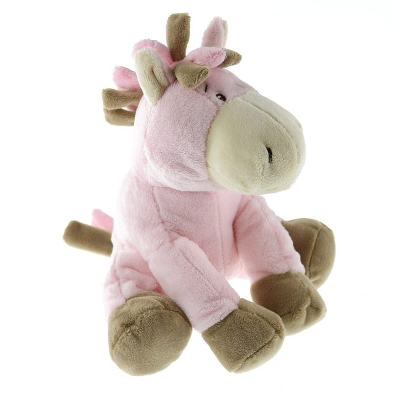 Peluche Cheval Musical- Rose