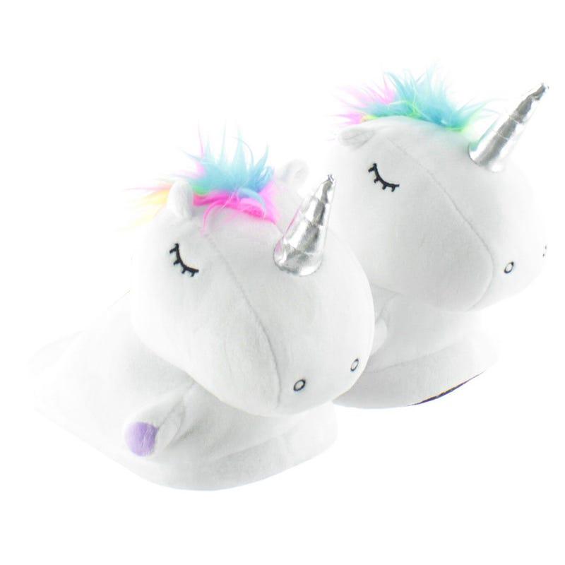 Slippers - White Unicorn Kid