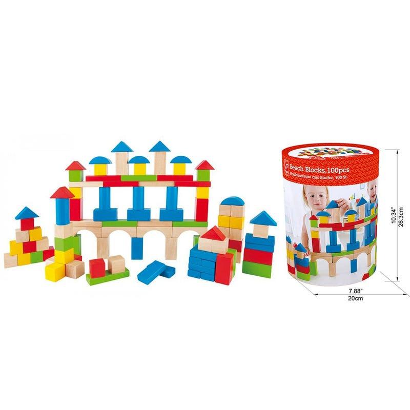 Blocs Paquet de 100 - Multicolore & Bois