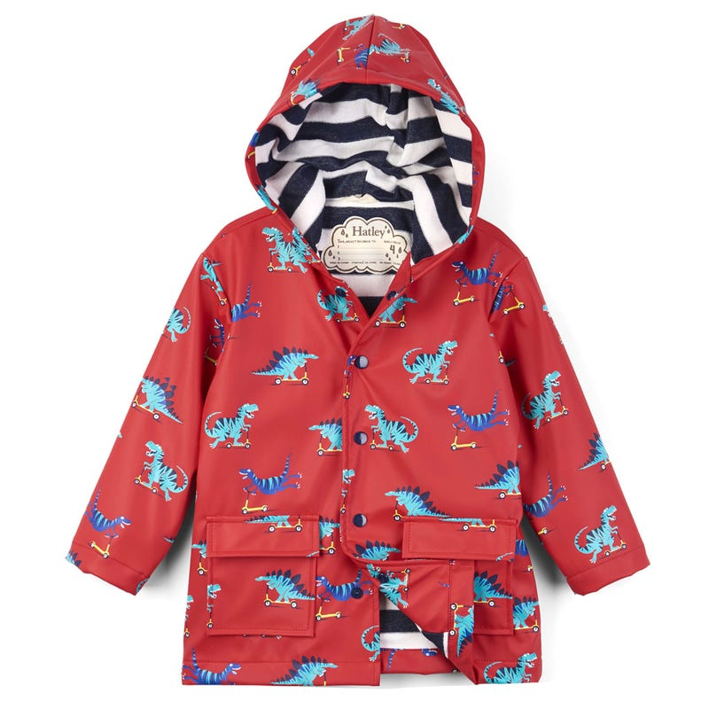 Scooting Dinos Raincoat 2-8y