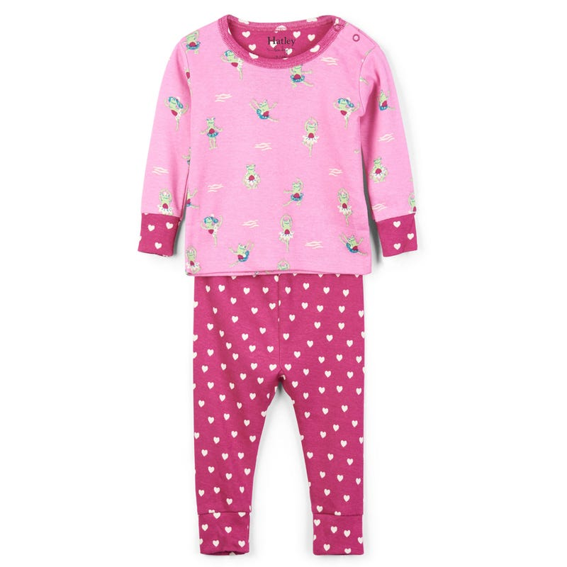 Princess Frogs Organic Cotton Pajama Set 3-24m