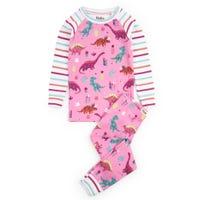 Darling Dinos Organic Cotton Raglan Pajama Set 2-8y