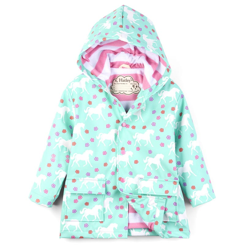 Colour Changing Galloping Horses Raincoat 2-8y
