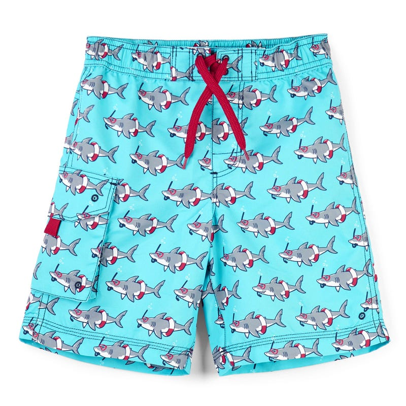 Snorkeling Sharks Board Shorts 2-7y