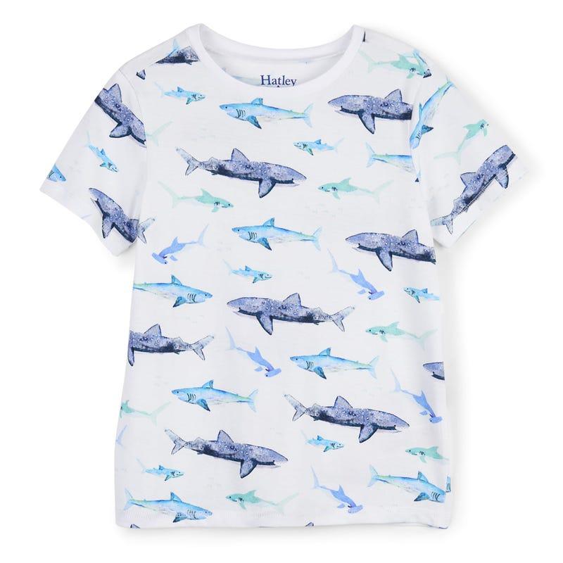 T-Shirt Graphique Requin 2-8ans