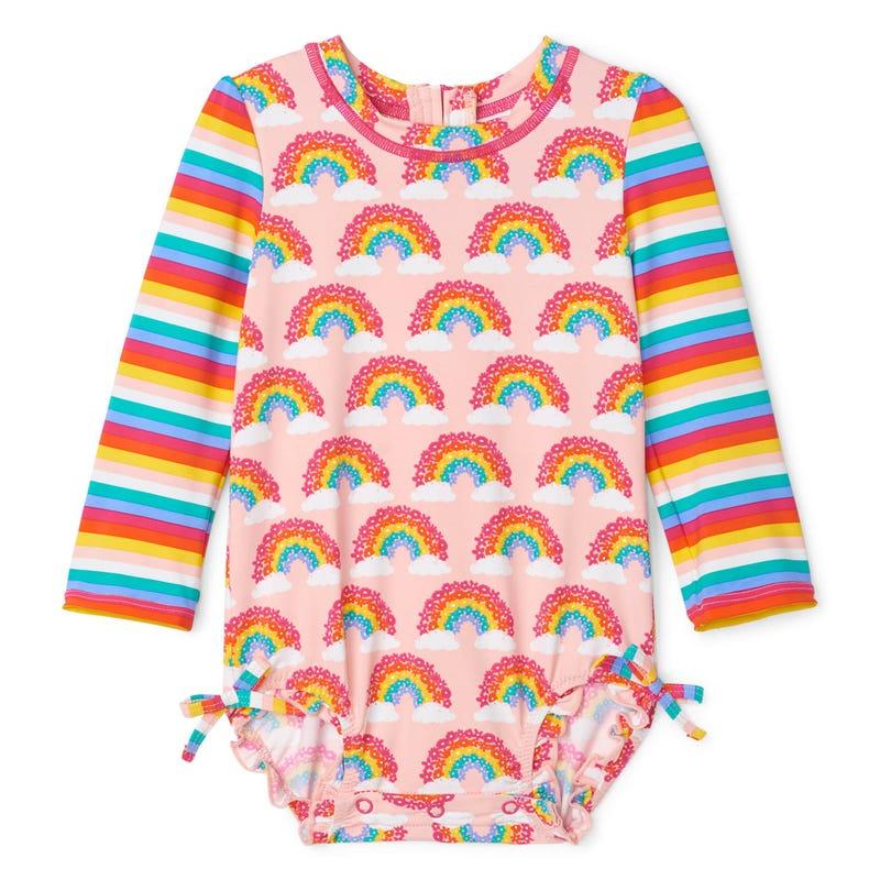 Rainbow UV Rashguard Swimsuit 324