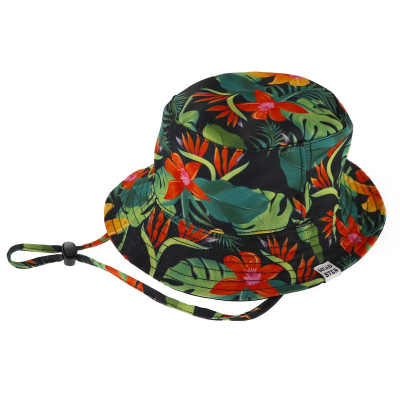 Black Hibiscus Summer Hat 2-7