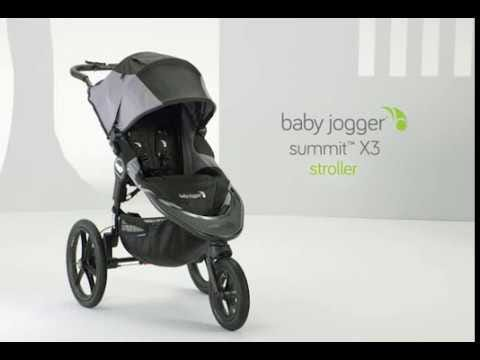 Baby Jogger Summit X3 Stroller Black Gray Clement
