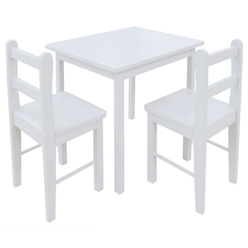 Table And Chair Set - White