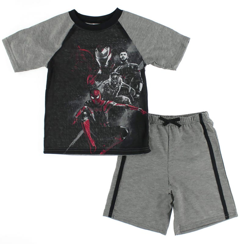 Avengers Short Pajama Set 4-12y