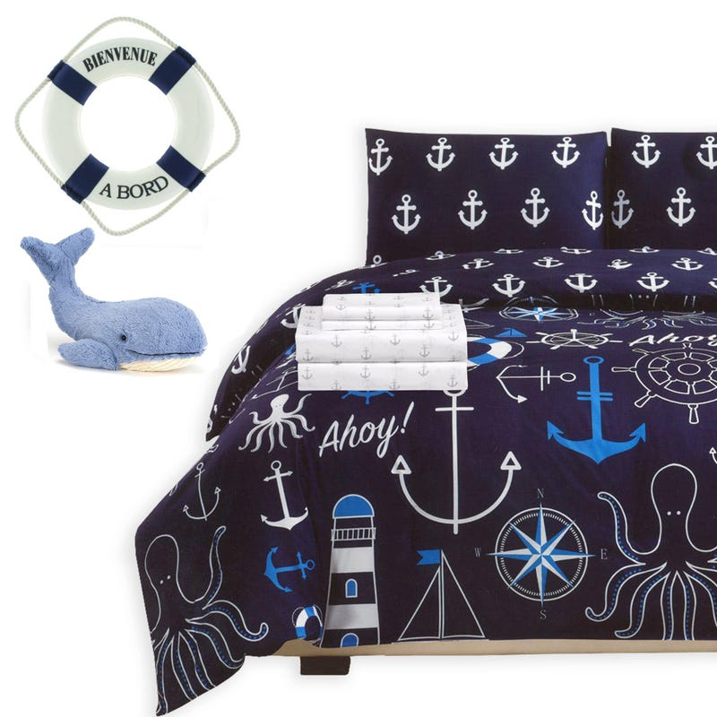 Bundle Bedding and Accessories - Nautical