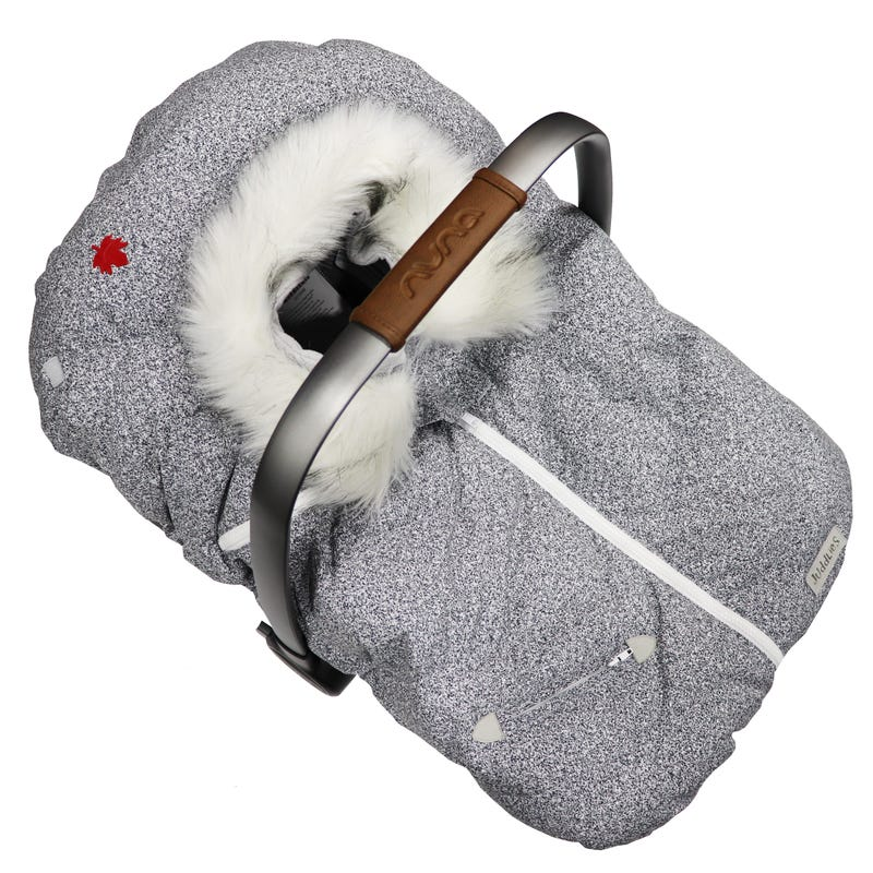 Infant Car Seat Cover- Salt and Pepper Grey