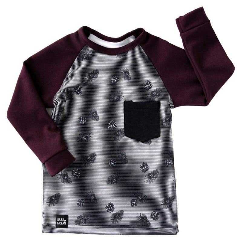 T-Shirt à Manches Longues Rayé 6-36mois