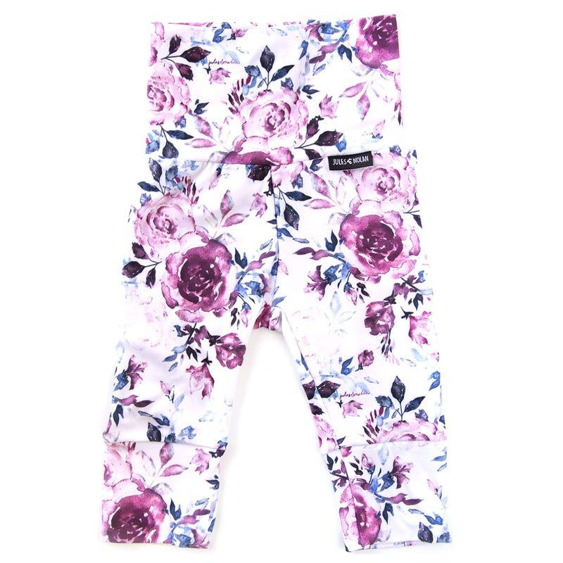 Pantalon 3/4 Évolutif Fleurs 0-36m