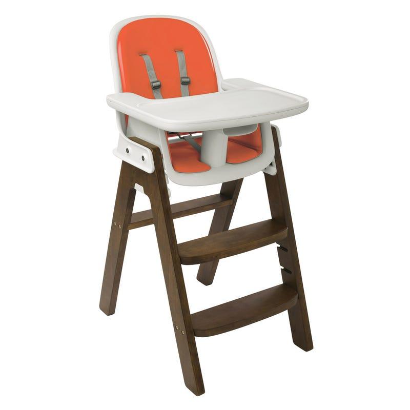 Chaise Haute Sprout- Noyer/Orange