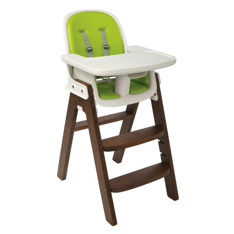 Chaise Haute Sprout- Noyer/Vert